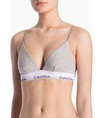 corpiño gris calvin klein unlined triangle modern cotton