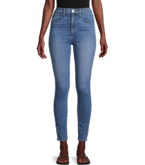 joe's jeans women's the earth conscious bella super high-rise ankle-cropped skinny jeans - blue - size 25 (2)