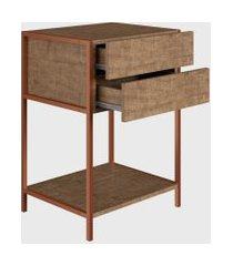 mesa de cabeceira vermont/est. cobre industrial artesano