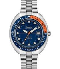 bulova men's automatic archive devil diver stainless steel bracelet watch 44mm
