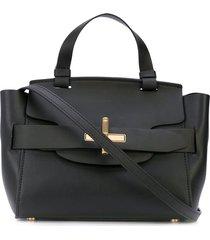 zac zac posen brigette belted satchel - black