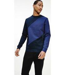 tommy hilfiger men's organic cotton terry sweatshirt navy - xs