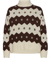 sonia sweater turtleneck coltrui multi/patroon wood wood