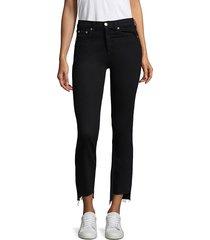 rag & bone women's high-rise stove pipe jeans - black - size 23 (00)