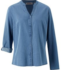camicia di jeans con maniche regolabili (blu) - john baner jeanswear
