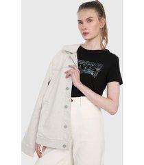 camiseta negro-multicolor levis