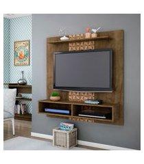 painel móveis bechara gama tv até 43 pol 1 prateleira rústico 3d