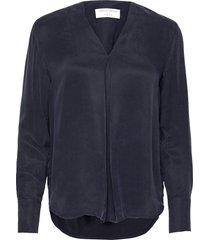 kasia blouse lange mouwen blauw tiger of sweden