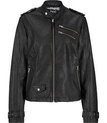 giacca in similpelle stile biker con cerniere (nero) - bpc bonprix collection