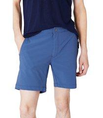 men's onia calder microstripe swim trunks, size large - blue