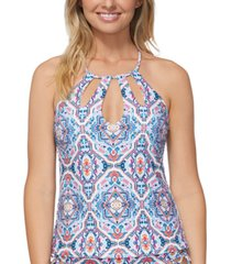 raisins juniors' aquarius rising rosalie tankini top, created for macy's women's swimsuit