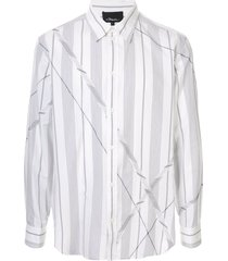 3.1 phillip lim argyle patchwork long sleeve shirt - white