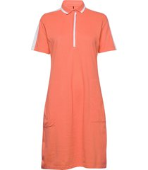 leimikki w organic cotton dress kort klänning orange halti