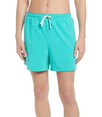 men's open edit classic swim trunks, size x-large - blue/green