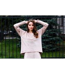 bluza welurowa,dresowa oversize kolor beż