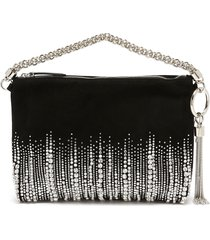 'callie' embroidered crystal suede clutch