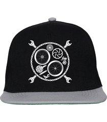 czapka fullcap ekg biketool black/gray