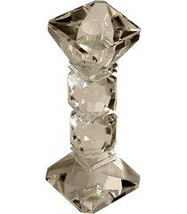castiçal de cristal gioielli para 1 vela