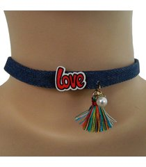 choker love flecos cl-13526