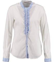 gas witte slim fit blouse