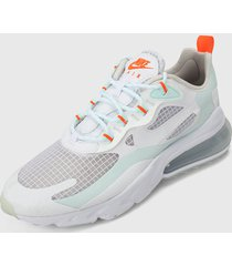 tenis lifestyle blanco-azul-naranja nike air max 270,
