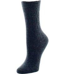 natori rib knit texture socks, women's, grey natori