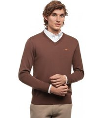 sweater manga larga business marrón ferouch