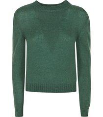 alberta ferretti plain rib knit sweater