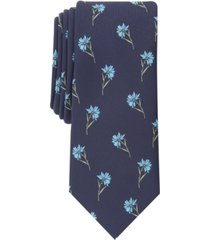 bar iii men's field of daisies skinny tie, created for macy's