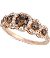 le vian chocolatier diamond ring (3/4 ct. t.w.) in 14k rose gold