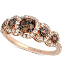 le vian chocolatier diamond ring (3/4 ct. t.w.) in 14k rose gold