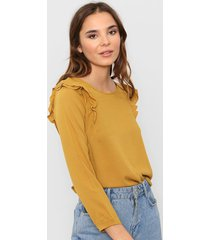 blusa mostaza nano libia
