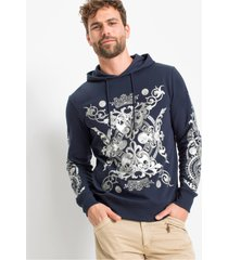 hoodie met print, slim fit