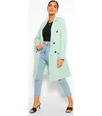 double breasted tailored longline blazer, sage