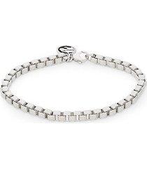 sterling silver dot-pattern venetian chain bracelet