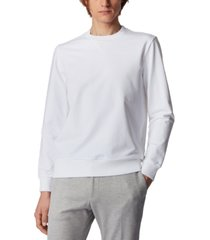 boss men's stadler 37 white sweatshirt