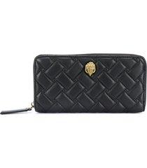 kurt geiger london quilted zip-around wallet - black