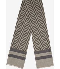 chevron scarf grey 1