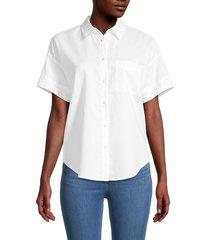 rag & bone women's lenny button down shirt - white - size xl