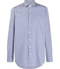 etro vertical stripe shirt - blue