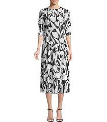 sheree floral silk midi dress