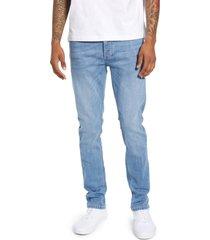 men's topman mason skinny fit jeans, size 36 x 34 - blue