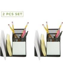 mind reader 2 piece mesh pencil cup holder