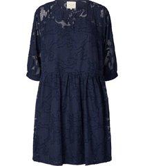 jurk met kant ankara  blauw