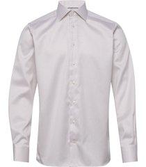 beige diamond weave shirt overhemd business beige eton