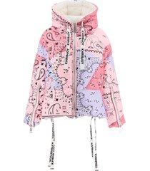 khrisjoy bandana print khris puffer jacket