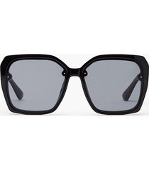 womens frame hungry oversized square sunglasses - black