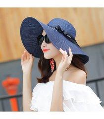 sombrero de verano forma de arco-azul marino