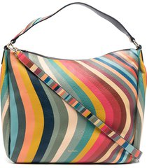 paul smith swirl print tote - red