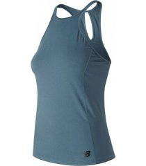 new balance tanktop new balance women rally tank light petrol-xs